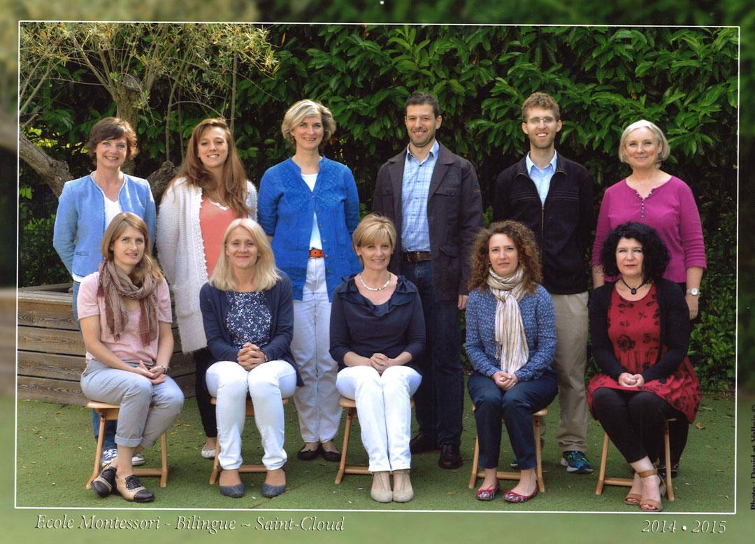 L'équipe pédagogique en juin 2015